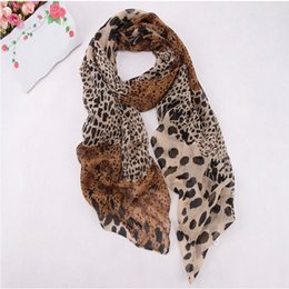 Wholesale Items Sold Australia - Hot Sell Sexy Fashion Shinning Leopard Print Chiffon Shawl Scarf for Women and Girls Hot Item High Quality
