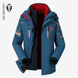 waterproof thermal jackets 2019 - Men Winter Jacket Waterproof Softshell M-5XL Plus Size Thicken Warm Fleece Parkas Thermal Fashion Loose Coat Windproof P
