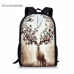 $enCountryForm.capitalKeyWord Australia - ELVISWORDS Fashion Children's Backpack Fantastic Deer Painting Toddler Kids School Book Bags Kawaii Animal Girls Travel Backpack