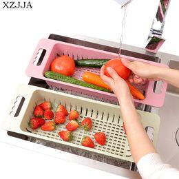 $enCountryForm.capitalKeyWord Australia - wholesale Multifunction Kitchen Sink Rack Vegetables Fruit Drain Basket Tableware Organize Drying Shelf Kitchen Storage