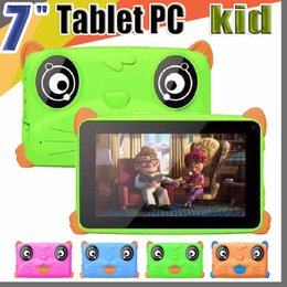 "kids android tablets wholesale UK - 2019 Kids Brand Tablet PC 7"" 7 inch Quad Core children tablet Android 4.4 Allwinner A33 google player 512MB RAM 8GB ROM EBOOK"