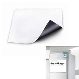 office magnets NZ - Flexible Size A3 Magnetic Whiteboard Fridge Kitchen Home Office Reminder Magnet Dry-erase Board White Boards LE66