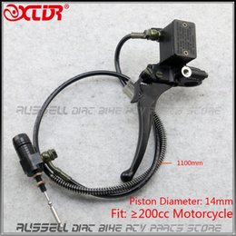 clutch lever master NZ - Left Right Handle Brake Clutch Lever Master Cylinder Hydraulic high-grade System For YBR EN CBF CB CG Motorcycle M10