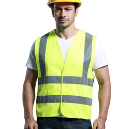 Discount reflective safety vests motorcycle - New Unisex Reflective Vest Clothing Traffic Motorcycle Night Rider Yellow Safety Security Visibility Reflective Cycling