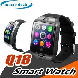 $enCountryForm.capitalKeyWord Australia - Q18 smart watch Bluetooth Watches Wristwatch with Camera TF SIM Card Slot Pedometer Answer Call with Box for Android IOS iPhone Samsung