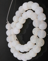 Onyx Stones Jewelry Australia - WHITE 4MM 8mm 6MM 10MM Weathered Agates Natural Stone Beads Frost Onyx Round Loose Beads DIY Necklace Bracelet Earrings DIY Jewelry Making