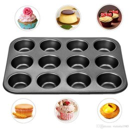 cups shape cake Australia - Hot Sale Heavy duty carbon steel cupcake baking tray 12 mini cup cupcake shaped cake pan,nonstick cupcake baking tray