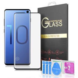 S10 3D Curvo Protetor de Tela De Vidro Temperado para Samsung Galaxy S10 Lite Mais S9 S8 NOTA 9 Caso Friendly [Suporte de impressão digital] em Promoção