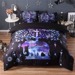elephant textiles NZ - 2019 New Designer 3d Three-dimensional Fashion Foreign Trade Home Textiles Hot Explosions National Wind Elephant Bedding Three-piece