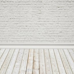 backgrounds portrait photography 2019 - Laeacco White Brick Wall Wooden Floor Portrait Baby Photography Backgrounds Customized Photographic Backdrops For Photo