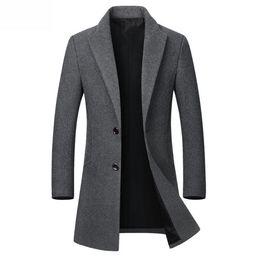 $enCountryForm.capitalKeyWord UK - Drop Shipping Winter Wool Jacket Men's High-quality Wool Coat Casual Slim Collar Wool Coat Men's Long Cotton Collar Trench Coat
