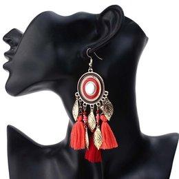 $enCountryForm.capitalKeyWord Australia - designer earrings Tassel chandelier earrings jewelry fashion women bohemia leaf tassels long dangle Trendy Ethnic Bohemian earings dropship