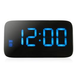 $enCountryForm.capitalKeyWord UK - Alarm Clock Voice Control Digital LED Time Display Electric Snooze Night Backlight Desktop Table Clock for Home Decor ZJ0365