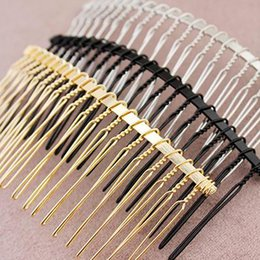 $enCountryForm.capitalKeyWord NZ - 5Pcs 20 Teeth Metal Hair Clips Side Combs Pin Barrettes Craft DIY Hair Accessories for Popular Hairstyles Headwear