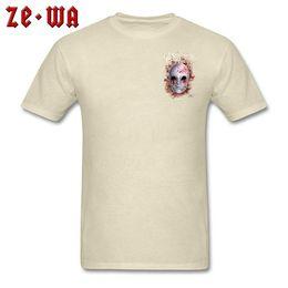 airsoft clothing 2019 - 2019 men s designer clothing tshirt Horror Male T shirt Porcelain Mask T Shirts Short Sleeve Casual Brand Men Summer TSh