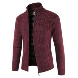$enCountryForm.capitalKeyWord Australia - Helisopus New Fashion Men's Jacket Autumn Winter Solid Color Zipper Outerwear Long Sleeve Casual Coat Sweater Cardigan