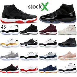 cotton cherry Australia - With socks Concord High 45 11 11s Cap and Gown Heiress GAMMA BLUE Cherry SPACE WIN LIKE Men Basketball Shoes Top Quality sports Sneakers