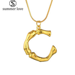 $enCountryForm.capitalKeyWord Australia - Hot Sale 26 Inital Letter Name Pendants Necklace for Women Gold Color A-Z Alphabet Snake Chain Necklace Jewelry Gift 2019