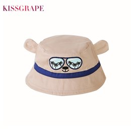 baby cotton sunhats Canada - Anti-UV Cute Baby Boy Hats Cool Panama Summer Beach Swimming Caps Kids Cartoon Hat Sunhat Baby Hat Newborn Accessories 1-8Y
