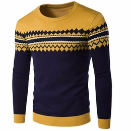 $enCountryForm.capitalKeyWord Australia - 2019 Brand New Sweaters Men Fashion Style Autumn Winter Patchwork Knitted Quality Pullover Men Casual Men Sweater Xxl