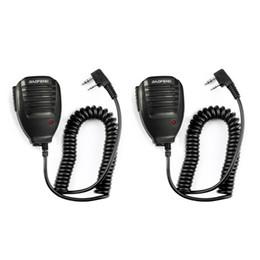 Ingrosso 2PCS Baofeng UV5R microfono portatile altoparlante del MIC per Baofeng Radio portatile UV5R BF-888s BF-UVB3 Inoltre Walkie Talkie