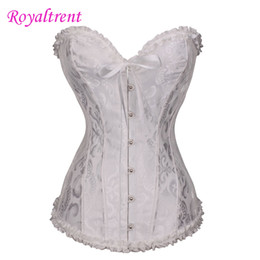 Wholesale fixed s online – design V Neck Jacquard Body Shaping Corset Waist Shaping Body Vest Retro Court Corset Steel Buckle Fixing Large Size