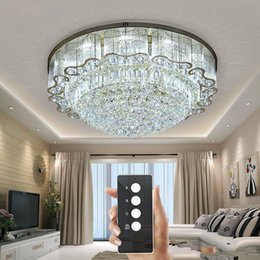 $enCountryForm.capitalKeyWord NZ - 3 brightness crystal lights living room lamp ceiling lights Gold crystal ceiling lamp LED bedroom restaurant lighting with remote control