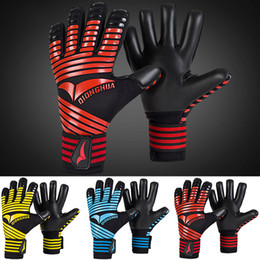 winter football gloves NZ - Children's adult football skid goalkeeper gloves Gantry goalkeeper training gloves Extended wrist design No finger