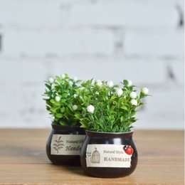 $enCountryForm.capitalKeyWord Australia - Artificial Plant Potted Mini Fake Plant Decorative Lifelike Flower Green Plants can Use together with vehicle-mounted Aromatherapy stick