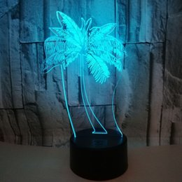 $enCountryForm.capitalKeyWord Australia - Online Retailers New Pattern Coconut Tree 3d Lamp Colorful Remote Control Touch Led Vision Lamp Gift Small Desk Lamp 3d Small Night-light
