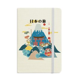notepad japanese NZ - Local Japanese Travel Sightseeing Notebook Fabric Hard Cover Classic Journal Diary A5