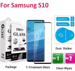 $enCountryForm.capitalKeyWord Australia - 2019 New 3D Tempered Glass For Samsung S10 Plus S10e Full Cover Screen Protector Film With Paper Package Stock Free Shipping