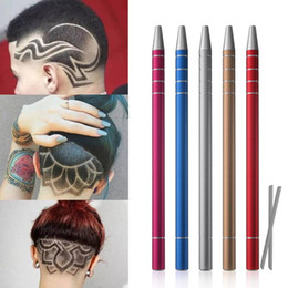 $enCountryForm.capitalKeyWord NZ - 1Pcs Hairstyle Engraved Pen+10Pcs Blades Professional Hair Trimmers Hair Styling Eyebrows Shaving Salon 2019 New Arrival High Quality