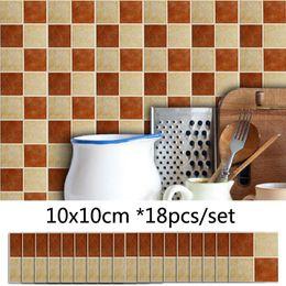 $enCountryForm.capitalKeyWord Australia - Retro Mosaic Brick Pattern Matte Wall Sticker Kitchen Waterproof DIY Tile Stickers Bathroom Decor Self adhesive Decals Sticker Mural