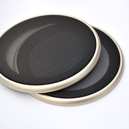 speaker box inch Australia - WLKE 2pcs 4.2 inch Gold Circle Speaker Protective Grille Decorative with DIY for Car Sound Box Speaker Grill Metal Mask