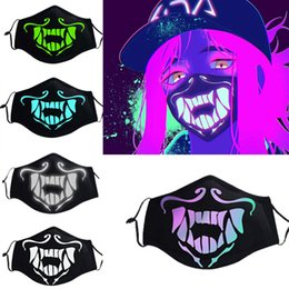 $enCountryForm.capitalKeyWord Australia - Accessories Masks Eyewear Game LOL KDA Akali Masque Cosplay Props S8 Mask Night Lights Face Masks Women Men Resist The Cold Wind Accessoires