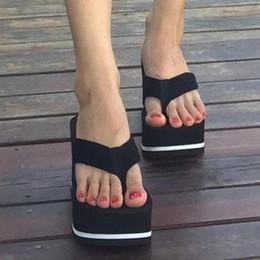 $enCountryForm.capitalKeyWord Australia - Women Summer High Heel Slippers Platform Sandals Ladies Wedges Solid Flip Flops Shoes Girl Outdoor Beach Slippers