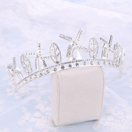 $enCountryForm.capitalKeyWord Australia - Pinwheel Tiara Women Headwear Silver Rhinestone Wedding Bridal Hair Accessories Ladies Party Pageant Head Piece Headdress