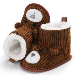 boot baby knitting 2019 - Baby Shoes Infant Toddler Baby Boots Shoes Newborn Snow Knitting Cute Cartoon Bear Crib A #E discount boot baby knitting