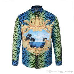 $enCountryForm.capitalKeyWord Australia - Fashion Leopard Shirt Men Luxury Baroque Shirts Unisex Unique Design 2d Print Shirt Men Casual Business Chemise Homme Xxl