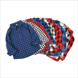 Blouse Cotton Baby Boy Australia - Baby Boys Clothes Girls Shirts Boy Plaid Blouse T Shirts Kids Cotton Spring Tops Fashion Long Sleeve Tees 2019 Kids Designer Clothes B4164