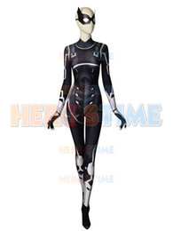 Male Lycra Suit Australia - TOP Quality Black Cat Suit Spider-man Cosplay Costume 3D Print The Heist Black Cat Bodysuit Lycra Zentai Halloween Party Suit