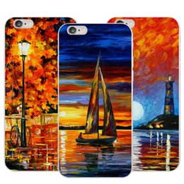$enCountryForm.capitalKeyWord Australia - Creative mobile phone sets painted Apple iPhone soft shell oil painting cartoon protective cover series silicone manufacturers wholesale