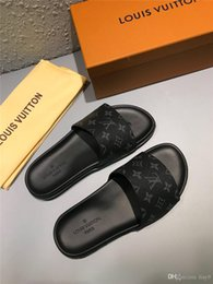 Beach Shoes 47 Australia - iduzi Designer Summer slippers men leather beach Sandals man slippers non-slip rubber Luxury Design shoes male footwear big size 35-47 black
