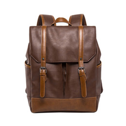 $enCountryForm.capitalKeyWord UK - NEW-Fashion Pu Leather Backpacks Vintage Casual Notebook Backpack Man And Women Student School Bags Shoulder Bags Backpack
