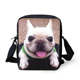 $enCountryForm.capitalKeyWord NZ - French Bulldog Printing School Bags Baby Lovely Schoolbags Children School Daypack Shoulder Trunk Bags Kids Funny Small Book Bag