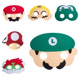 $enCountryForm.capitalKeyWord Australia - Kids Cartoon Mask Super Mario Frog Double Layer Halloween Mask Children Cute Full Face Half Face Masks HHA463
