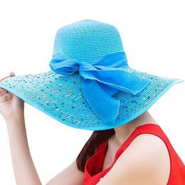ac59ae06a7c Wide Brim Floppy Hat Visor Australia - Summer Large Brim Straw Hats Floppy  Wide Brim Sun