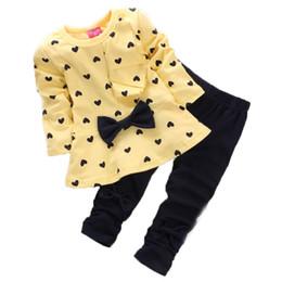 Red White Blue Tutus UK - Toddler Boys Clothing Set 2018 Spring and Summer Girls Cotton Suit Fashion Print Black Long Sleeve Girls Cute Print Pattern