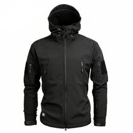d68b22b98ec Men s Army Military Camouflage Jacket Winter Fleece Warm Hooded Coat  Tactical Waterproof Windbreaker Soft Shell Jackets Raincoat